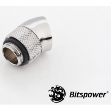 Bitspower G1/4 Rotary 30d Ig1/4 Extender Sliver 30-degree Type With 360-degree Rotation.true Hi-flow Design With Hi-quality Brass Material Bp-30r
