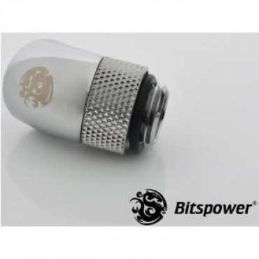 Bitspower G1/4 Rotary 45d Ig1/4 Extender Sliver 45-degree Type With 360-degree Rotation. True Hi-flow Design With Hi-quality Brass Material Bp-45r