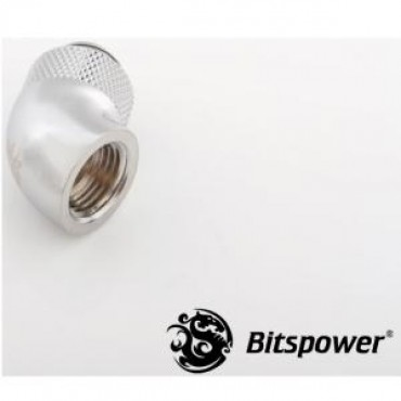 Bitspower G1/4 Rotary 60d Ig1/4 Extender Sliver 60-degree Type With 360-degree Rotation. True Hi-flow Design With Hi-quality Brass Material Bp-60r