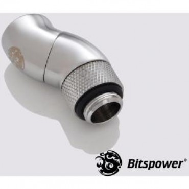 Bitspower G1/4 Dualrot 90d Ig1/4 Extender Sliver 90-degree Type With Dual 360-degree Rotation. True Hi-flow Design With Hi-quality Brass Mater Bp-90r2