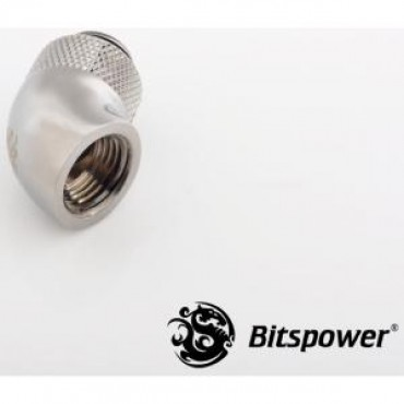 Bitspower G1/4 Rotary Ig1/4 Extender 60-degree Type With 360-degree Rotation. True Hi-flow Design With Hi-quality Brass Material. High Durability Nickel Finished In Black Sparkle Color. Hiding O-ring Design. Bp-bs60r