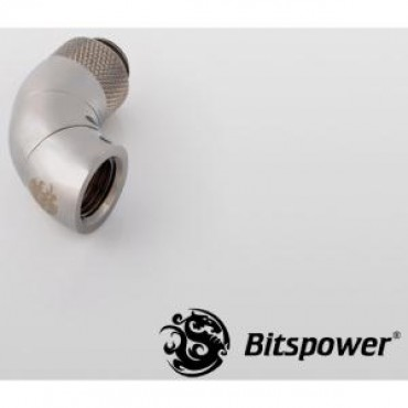 Bitspower G1/4 Rotary Ig1/4 Extender 90-degree Type With Triple 360-degree Rotation. True Hi-flow Design With Hi-quality Brass Material. Nickel Finished In Black Sparkle Color. Hiding O-ring Design. Bp-bs90r3