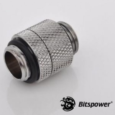 Bitspower G1/4 Rotary G1/4 Extender Sliver True Hi-flow Design With Hi-quality Brass Material. Full 360-degree Rotation. High Durability Nicke Sliver Bp-rg