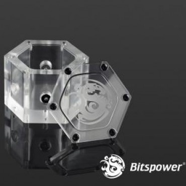 Bitspower Design For Multi-function On Water-tank Hex Design Allows Multi-directional In/out Flow Design. Bp-wthac-le