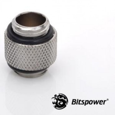 Bitspower G1/4 Silver Shining Dual G1/4 Fitting. True Hi-flow Design With Hi-quality Brass Material. Nickel Finished In Silver Shining Color Bp-wtp-c08
