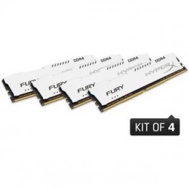 Kingston 32gb 2400mhz Ddr4 Cl15 Dimm (kit Of 4) 1rx8 Hyperx Fury White Hx424c15fw2k4/32