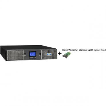 EATON 9PX 1000VA RACK/TOWER 10AMP + Warranty+ standard uplift 4 year: 9 seri + Gigabit Network Card (3973757 + 2681779 + 43343)