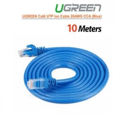 Ugreen Cat6 Utp Lan Cable Blue Color 26awg Cca 10m (11205) Acbugncat6m10