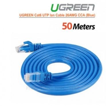 Ugreen Cat6 Utp Lan Cable Blue Color 26awg Cca 50m (11226) Acbugncat6m50