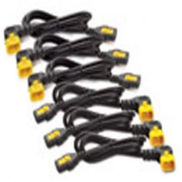 Apc (ap8702r-ww) Power Cord Kit (6 Ea), Locking, C13 To C14 (90 Degree), 0.6m Ap8702r-ww