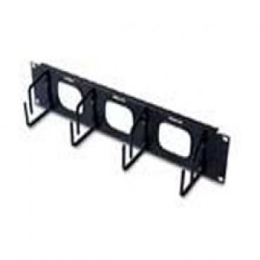 Apc 2u Horizontal Cable Organizer W/ Pass Through Black Ar8428