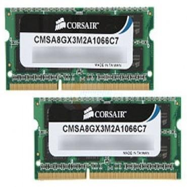 Corsair CMSA8GX3M2A1066C7 Corsair Apple Qualified 2x4GB 1066Mhz DDR3 1.5v SODIMM