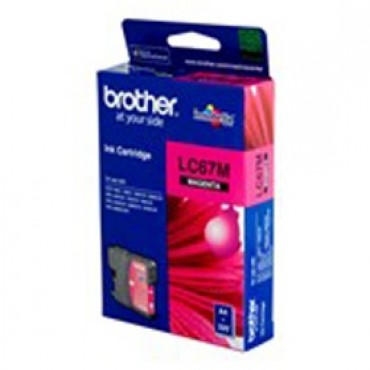Brother Lc-67m Magenta Ink Suits Dcp-385c Lc-67m