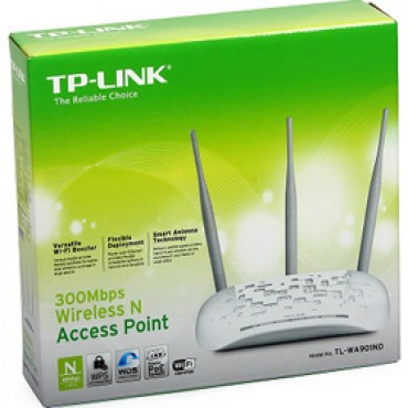 Tp-link Wireless-n Access Point, 10/ 100, 300mbps, 3 X Ant, 3yrtl-wa901nd