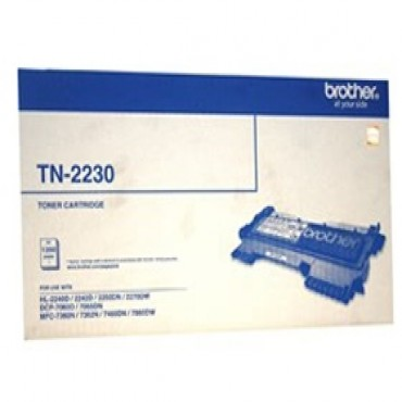Brother Mono Laser Black Toner suits HL-2240D, Std Yield TN-2230