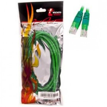 Wicked Wired 1m Green CAT6 UTP RJ45 To RJ45 Network Cable WW-N-CAT6-GRN1M