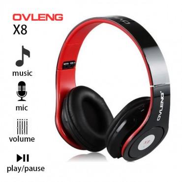 Ovleng X8 3.5mm Foldable Professional Studio Stereo Cellphone Headphones Headset Pc Bass Headphones