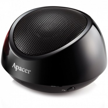 Apacer Bluetooth Speaker Ws211 Black Retail Pack With Carry Case, Support Nfc In Android
