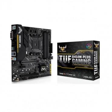 Asus Tuf B450m-plus Gaming Amd B450 Matx Motherboard [90mb0yq0-m0uay0] Asus-90mb0yq0-m0uay0