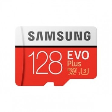 SAMSUNG EVO Plus 128GB MicroSDXC with SD Adapter (MB-MC128GA/APC)