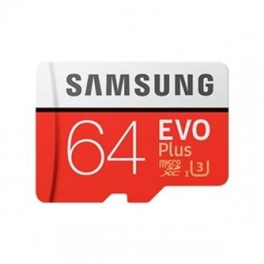 SAMSUNG EVO Plus 64GB MicroSDXC with SD Adapter (MB-MC64GA/APC)