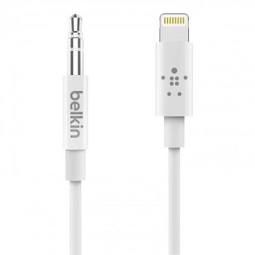 Belkin Lightning To 3.5mm Audio Cable 3.5mm - 1.8m - White Av10172bt06-wht