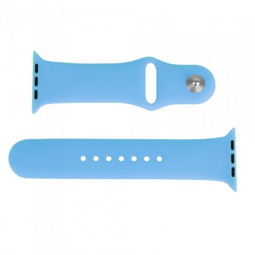 Laser Apple Watch Band 38mm Silicone Sports In Blue Aw-b38s-blu