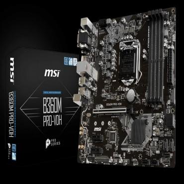 Msi B360m Pro-vdh Intel Matx Mb Vga Dvi Hdmi B360m Pro-vdh