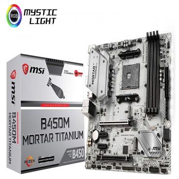 Msi Amd B450 Am4 Matx Gaming Motherboard 4xddr4 2x Pci-e X 1 2x Pci-e X 16 Hdmi Display Port 2x