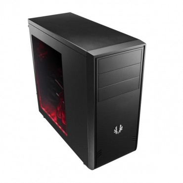 Bitfenix Black Comrade Window Mid Tower Chassis (usb3) Bfc-com-100-kkws1-rp