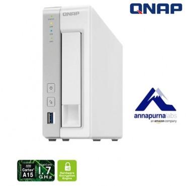QNAP TS-131P NAS 1-BAY (NO DISK) 1GB AL-212 DUAL CORE USB 3.0(3) GbE(1) TWR 2 Years Warranty TS-131P