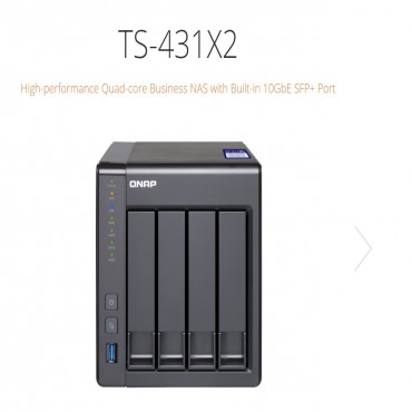 Qnap Ts-431X2-2G 4 Bay Nas (No Disk) Al-314 Quad Core 2Gb Gbe(2) 10Gbe Sfp+ Tower. 2 Years Warranty