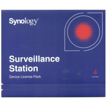Synology Surveillance Device License Pack For Synology Nas - 4 Additional Licenses License Pk (4)