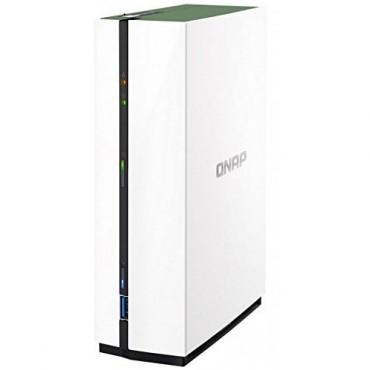"Qnap Nas Ts-128A 1-Bay 3.5"" Sata3 Diskless Home/ Soho Tower 4-Core Cpu Gblan(1) 1Gb Ram Ts-128A"