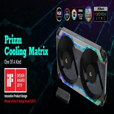 Antec Prizm Cooling Matrix. Argb Single Bracket Dual Fan With 2X 120Mm Fdb Pwm Fans + Fan Control
