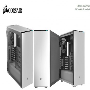 Corsair Carbide Series 678C Low Noise Tempered Glass Atx E-Atx Case White Cc-9011170-Ww