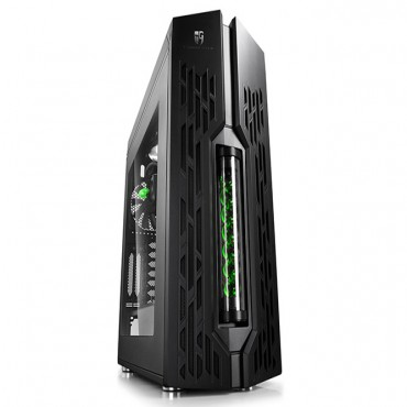 Deepcool Genome Mid Tower Case 2 W/ 360Mm Lcs Pec-250 Black/ Green Helix Genome Bk-Gn Ii