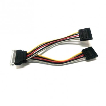 8Ware Sata Power Splitter Cable 15Cm 1 X 15-Pin - 2 X 15-Pin Male To Female Rc-5084