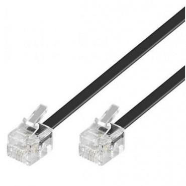 Astrotek Telephone Extension Cable 6P4C Plug/ Plug With 2Xrj11 6P4C Plugs Black Pvc Jacket.-Rohs