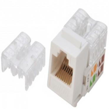 Astrotek CAT6 UTP Keystone Jack for Socket kit 10ps per pack Poly Bag White ATP-KJ-6