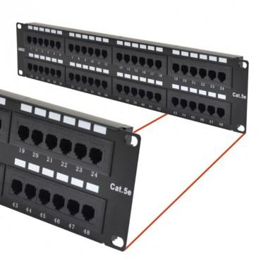 "Astrotek CAT5e UTP Patch Panel 48 Port PCB Typte 110/ Krone 3U"" Black ATP-PPU5E-48"