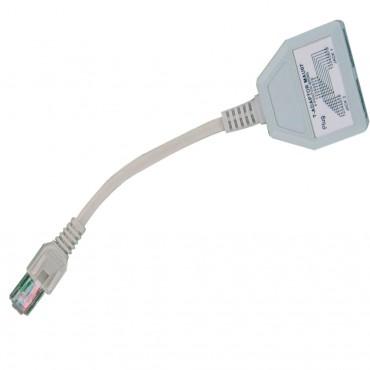 Cabac UTP Splitter Dongle RJ45 Plug to 2 By RJ45 Socket (LS) 42LAUTP