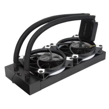 Antec Kuhler K240 Liquid Cpu Cooler Low Profile Pwm Fan Teflon Coated Tubing. Socket 2066 2011