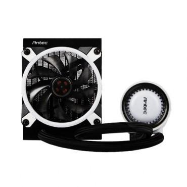 Antec Mecury 120 Rgb Liquid Cpu Cooler Large Pump Efficient Pwm Radiator Fan Graphite Bearings