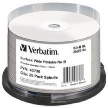 Verbatim Blu-Ray BD-R 25pk 25GB, 6x, Spindle (LS) 43738