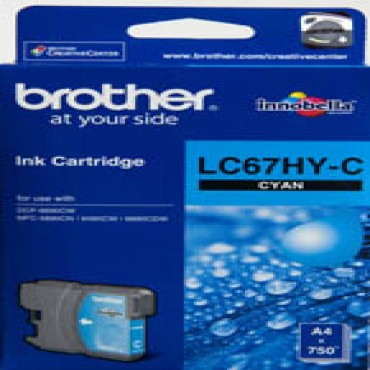 Brother LC-67C Cyan Ink Cart Hi Yield LC-67HYC