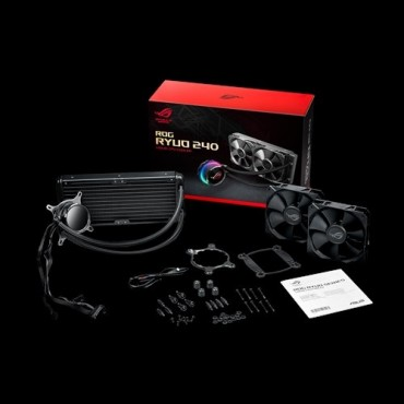 Asus Rog Ryuo 240 All-In-One Liquid Cpu Cooler Oled Aura Sync Rgb 240Mm Radiator Fan Rog Ryuo 240