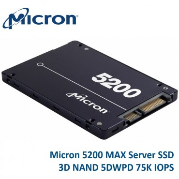 "Micron 5200 Max 1.92Tb 2.5"" Sata3 6Gbps 7Mm Server Data Centre Ssd 3D Tlc Nand 540R/ 520W Mb/ S"