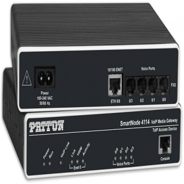 Patton Sn4112/ Js Smartnode Dual Fxs Voip Gateway 1X10/ 100Baset H.323 And Sip External Power Sn4112/Js