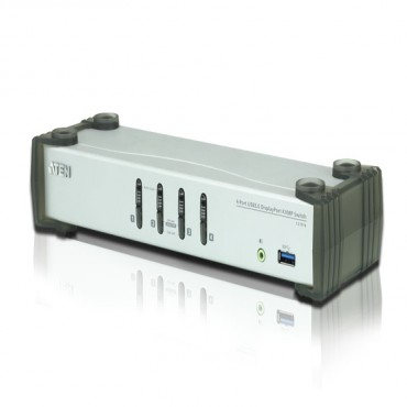 Aten 4 Port Usb 3.0 4K Displayport Kvmp (Kvm Cable Included) Cs1914-At-U